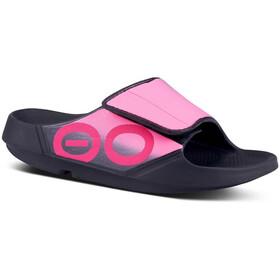 OOFOS Ooahh Sport Flex Sandals Women, czarny/różowy